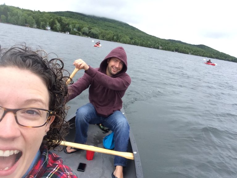 Canoe Selfie on Rangeley