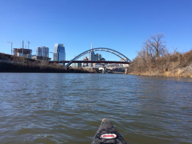 Nashville, TN from the canoe, Cumberland River